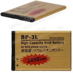 NOKIA Lumia 505NOKIA BP-3L kompatibilis akku 2450 mAh LI-ION POLYMER - EXTRA KAPACITÁS!