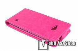 SLIM FLIP tok - lefelé nyíló, rejtett mágneses záródás - RÓZSASZÍN - NOKIA Lumia 730 / NOKIA Lumia 735 - PRÉMIUM!