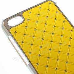 Műanyag védő tok / strassz köves hátlap - SÁRGA - HUAWEI Honor 6