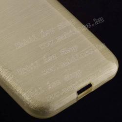 Szilikon védő tok / hátlap - szálcsiszolt mintázat - ARANY - SAMSUNG SM-G360F Galaxy Core Prime