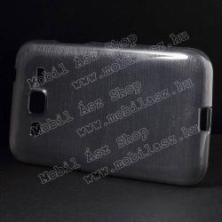 Szilikon védő tok / hátlap - szálcsiszolt mintázat - SZÜRKE - SAMSUNG SM-G360F Galaxy Core Prime