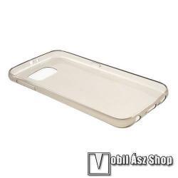 Szilikon védő tok / hátlap - ultravékony! 0,6mm - SZÜRKE - SAMSUNG SM-G920 Galaxy S6