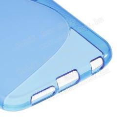 Szilikon védő tok / hátlap - FÉNYES/MATT - KÉK - SAMSUNG SM-G920 Galaxy S6