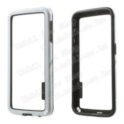 SAMSUNG Galaxy S6 (SM-G920)Szilikon védő keret - BUMPER - FEHÉR  FEKETE - SAMSUNG SM-G920 Galaxy S6