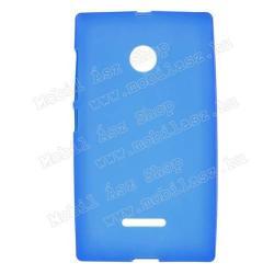 MICROSOFT Lumia 435 Dual SIMSzilikon védő tok  hátlap - FLEXI - KÉK - MICROSOFT Lumia 435  Lumia 435 Dual SIM  Lumia 532  Lumia 532 Dual SIM