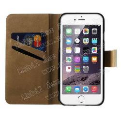 Notesz tok / flip tok - SZEXI LÁNY - asztali tartó funkciós, oldalra nyíló, rejtett mágneses záródás, bankkártyatartó zseb - APPLE iPhone 6