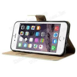 Notesz tok / flip tok - SZEXI LÁNY 4 - asztali tartó funkciós, oldalra nyíló, rejtett mágneses záródás, bankkártyatartó zseb - APPLE iPhone 6