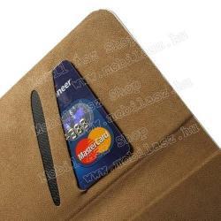 Notesz tok / flip tok - SZEXI LÁNY 5 - asztali tartó funkciós, oldalra nyíló, rejtett mágneses záródás, bankkártyatartó zseb - APPLE iPhone 6