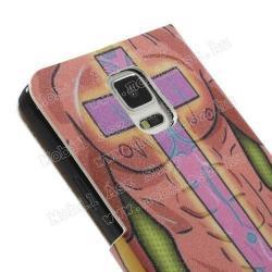 Notesz tok / flip tok - SZEXI LÁNY 2 - asztali tartó funkciós, oldalra nyíló, rejtett mágneses záródás, bankkártyatartó zseb - SAMSUNG SM-N910C Galaxy Note 4.