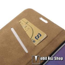 Notesz tok / flip tok - SZEXI LÁNY 4 - asztali tartó funkciós, oldalra nyíló, rejtett mágneses záródás, bankkártyatartó zseb - SAMSUNG SM-N910C Galaxy Note 4.