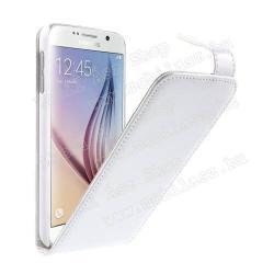 SAMSUNG Galaxy S6 (SM-G920)FLIP tok - FEHÉR - lefelé nyíló, rejtett mágneses záródás - SAMSUNG SM-G920 Galaxy S6
