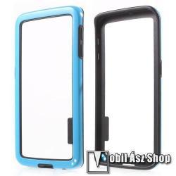 SAMSUNG Galaxy S6 Edge (SM-G925F)Szilikon védő keret - BUMPER - KÉK  FEKETE - SAMSUNG SM-G925F Galaxy S6 Edge