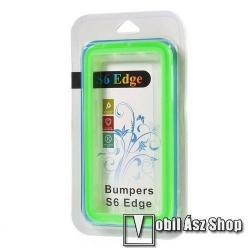 Szilikon védő keret - BUMPER - ZÖLD - SAMSUNG SM-G925F Galaxy S6 Edge