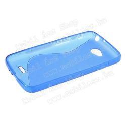 EXKLUZÍV telefonvédő gumi / szilikon tok (FÉNYES/MATT) - KÉK - LG L70