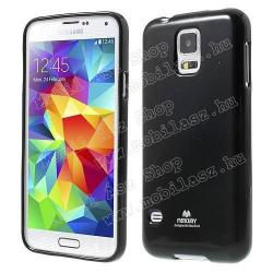 SAMSUNG Galaxy S5 Neo (SM-G903F)Szilikon védő tok  hátlap - MERCURY - FEKETE - SAMSUNG SM-G900F Galaxy S5