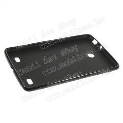 Szilikon védő tok / hátlap - X-DESIGN - FEKETE - LG V400 G Pad 7.0