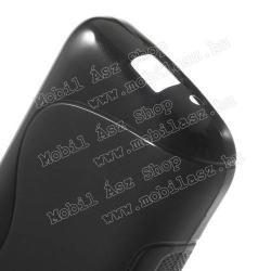 Szilikon védő tok / hátlap - FÉNYES / MATT - FEKETE - SAMSUNG SM-G130 Galaxy Young 2