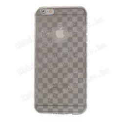 Szilikon védő tok / hátlap - sakktábla mintás - ÁTLÁTSZÓ / SZÜRKE - APPLE iPhone 6 Plus