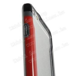 DUO szilikon védő keret - BUMPER - PIROS / FEKETE - APPLE iPhone 6