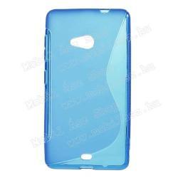 MICROSOFT Lumia 535Szilikon védő tok  hátlap - FÉNYESMATT - KÉK - MICROSOFT Lumia 535