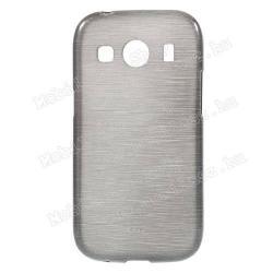SAMSUNG Galaxy Ace 4 LTE (SM-G357FZ)Szilikon védő tok  hátlap - szálcsiszolt mintázat - SZÜRKE - SAMSUNG SM-G357FZ Galaxy Ace 4 LTE  SAMSUNG SM-G357FZ Galaxy Ace Style LTE