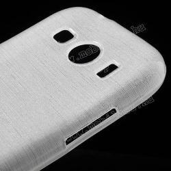 Szilikon védő tok / hátlap - szálcsiszolt mintázat - FEHÉR - SAMSUNG SM-G357FZ Galaxy Ace 4 LTE / SAMSUNG SM-G357FZ Galaxy Ace Style LTE