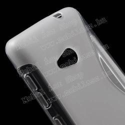 Szilikon védő tok / hátlap - FÉNYES/MATT - ÁTLÁTSZÓ - MICROSOFT Lumia 535