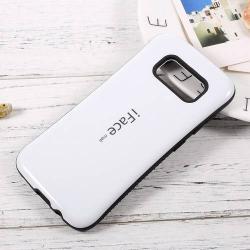 iFace műanyag védő tok / hátlap - FEHÉR - szilikon betétes, ERŐS VÉDELEM! - SAMSUNG SM-G950 Galaxy S8