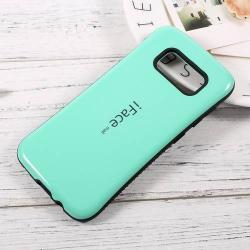 iFace műanyag védő tok / hátlap - CYAN KÉK - szilikon betétes, ERŐS VÉDELEM! - SAMSUNG SM-G950 Galaxy S8