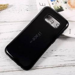 iFace műanyag védő tok / hátlap - FEKETE - szilikon betétes, ERŐS VÉDELEM! - SAMSUNG SM-G950 Galaxy S8