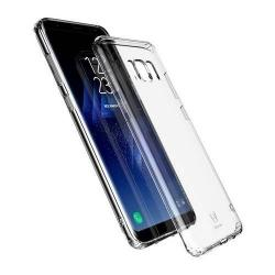 BASEUS Simple Series szilikon védő tok / hátlap - ÁTLÁTSZÓ - SAMSUNG SM-G955 Galaxy S8 Plus - GYÁRI