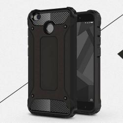OTT! MAX DEFENDER mûanyag védõ tok / hátlap - FEKETE - szilikon belsõ, ERÕS VÉDELEM! - Xiaomi Redmi 4X