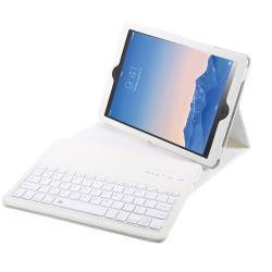 Flip / mappa bőrtok - bluetooth billentyűzet, ANGOL KIOSZTÁS! - APPLE IPAD 9.7 (2017) (5. GENERÁCIÓS) - FEHÉR / APPLE iPad 9.7 (2018)