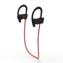 U8 SZTEREO SPORT bluetooth headset - PIROS - V4.1, felvevõ gomb, hangerõ szabályzó, fülre akasztható