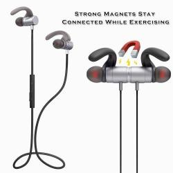 FOZENTO FT4 SZTEREO SPORT bluetooth headset - SZÜRKE - V4.2, felvevõ gomb, hangerõ szabályzó
