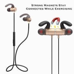 FOZENTO FT4 SZTEREO SPORT bluetooth headset - ARANY - V4.2, felvevõ gomb, hangerõ szabályzó