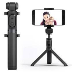 XIAOMI tripod állvány és Selfie bot - Beépített Bluetooth kioldóval, 360 fokban forgatható bölcsõ, 56-89mm-ig állítható - FEKETE
