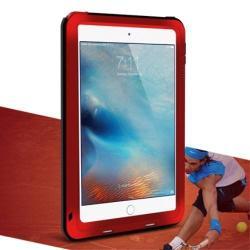 LOVE MEI Powerful defender védő tok / hátlap - ütésálló, Gorilla Glass üveg, fém keret, szilikon betétes - PIROS - APPLE iPad Mini 4 - GYÁRI