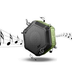 HEXAGON hordozható bluetooth hangszóró és kihangosító -  STRAPABÍRÓ KIALAKÍTÁS!, IP65 szabvány szerinti vízállóság - ZÖLD