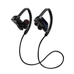 JOYROOM U12 SZTEREO SPORT bluetooth headset - FEKETE - V4.1, felvevő gomb, hangerő szabályzó, fülre akasztható