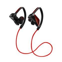 JOYROOM U12 SZTEREO SPORT bluetooth headset - PIROS - V4.1, felvevő gomb, hangerő szabályzó, fülre akasztható