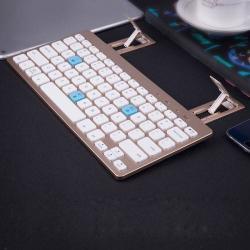BLUETOOTH billentyûzet - asztali készülék tartó funkciós, ANGOL kiosztás - ARANY