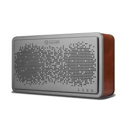 ICARER BS-221 hordozható Bluetooth hangszóró, V4.0, AUX csatlakozó, valódi bõr borítás - SÖTÉTBARNA
