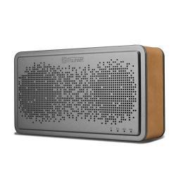 ICARER BS-221 hordozható Bluetooth hangszóró, V4.0, AUX csatlakozó, valódi bõr borítás - VILÁGOSBARNA