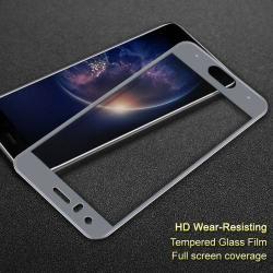IMAK előlap védő karcálló edzett üveg - SZÜRKE - 9H - HUAWEI Honor 9 / HUAWEI Honor 9 Premium - A TELJES KIJELZŐT VÉDI! - GYÁRI