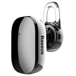BASEUS Encok A02 bluetooth headset - v.4.1, fülbe dugható, USB töltő - FEKETE - GYÁRI