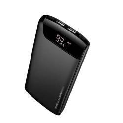 JOYROOM Wiseway hordozható töltő / vésztöltő - 2 USB kimenet, 20000mAh, 2.1A, LED állapotkijelzés - FEKETE
