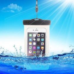Vízhatlan/vízálló tok, AQUA - 10 méterig, IPX8, nyakpánt, 163 x 90mm - FEHÉR