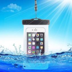Vízhatlan/vízálló tok, AQUA - 10 méterig, IPX8, nyakpánt, 163 x 90mm - KÉK