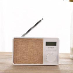 Hordozható Bluetooth hangszóró - FEHÉR - Beépített mikrofon, TF kártyaolvasó, AUX csatlakozás, FM rádió, LCD kijelzõ